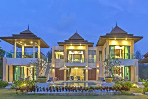 Premium 3-Bedroom Villa with Private Pool Night View