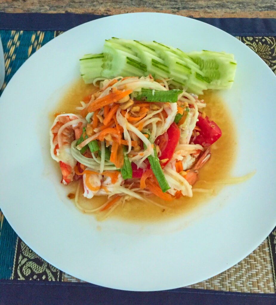 Thai Papaya salad with shrimps