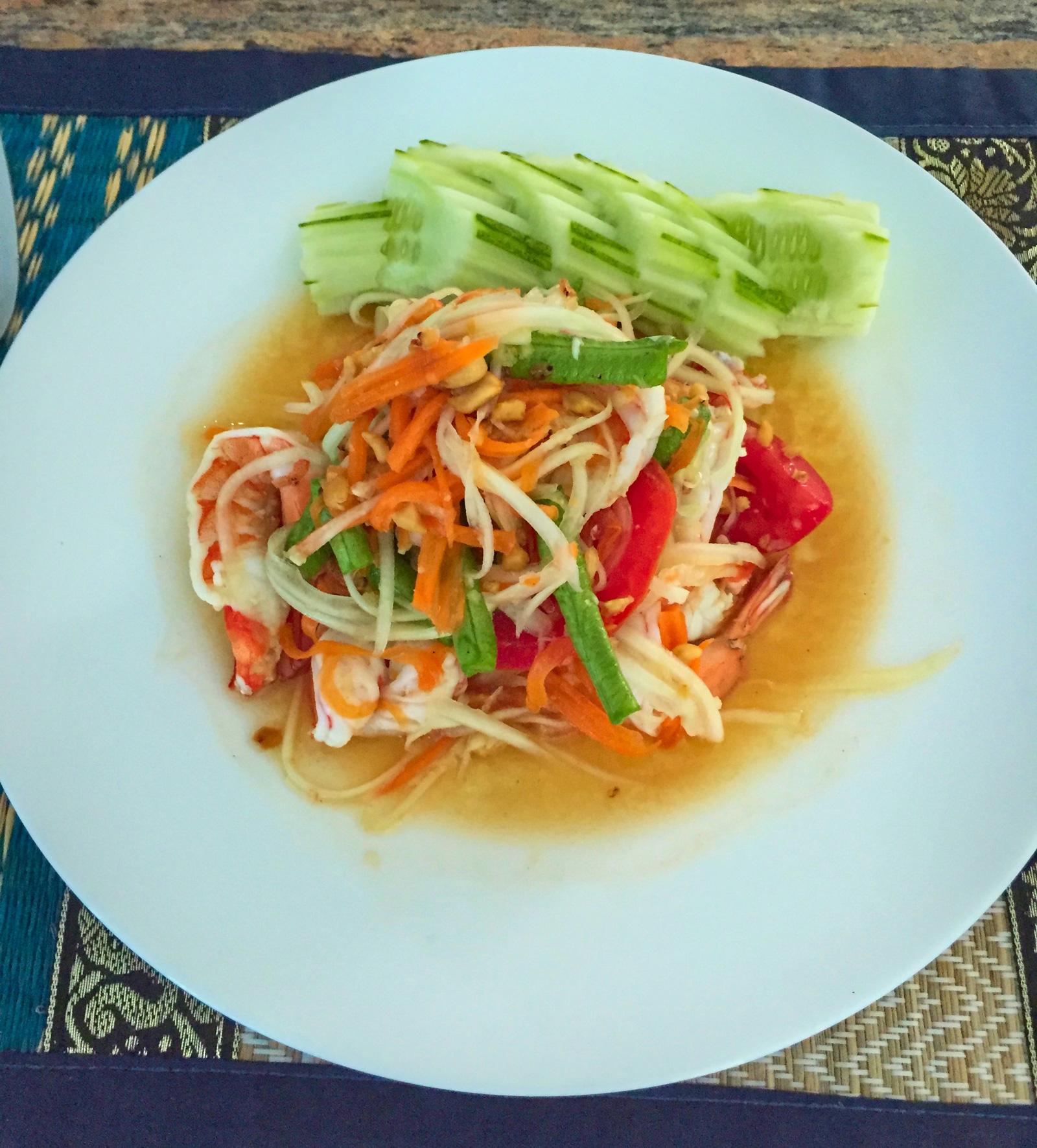 Thai Papaya salad with shrimps