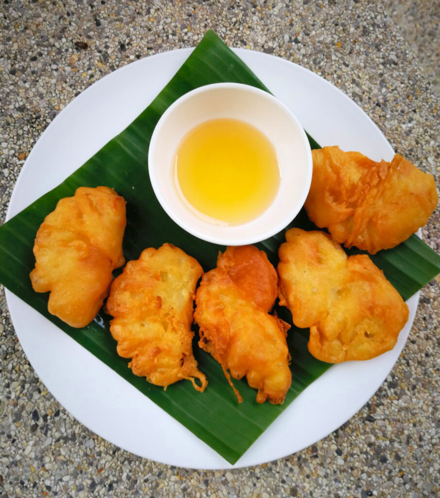 Deep fried pineapple