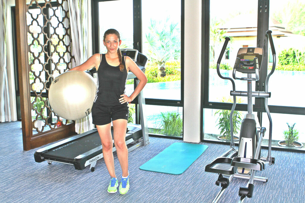 Wide variety of available gym equipment at our 5* villa complex in Southern Thailand