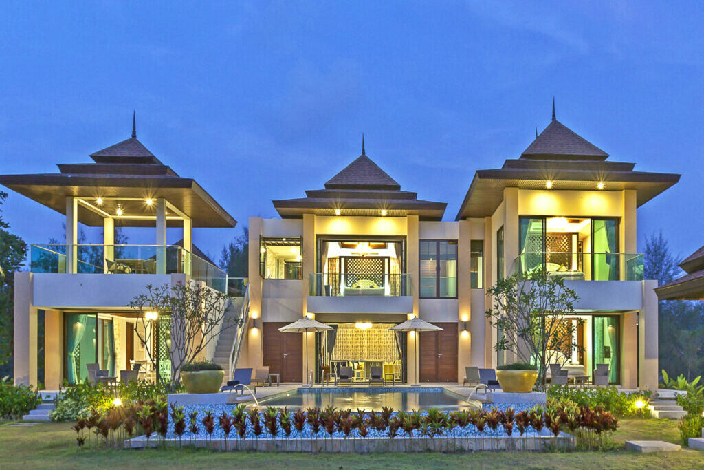 Evening views of the 2-storied premium villa at our 5* resort near Khao Lak