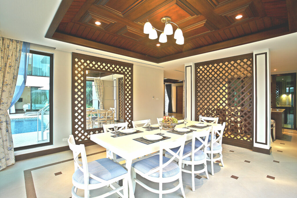 Dining room at the 2-storied premium villa near Khao Lak