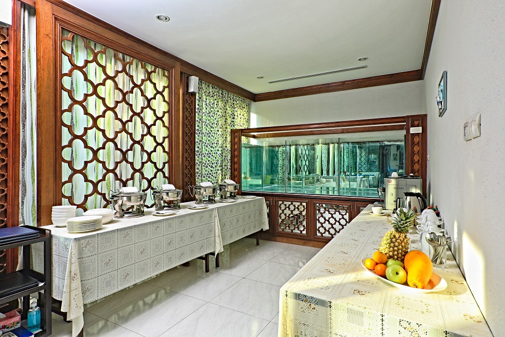 Breakfast buffet is available for quick and efficient guest service at Ataman Luxury Villas